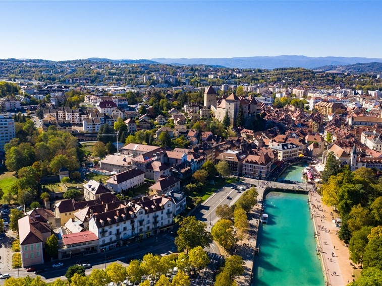 Annecy aerial view