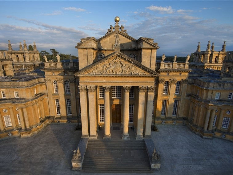 Blenheim Palace Great Court Aerial