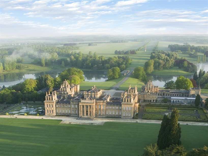 Blenheim Palace South Lawn aerial
