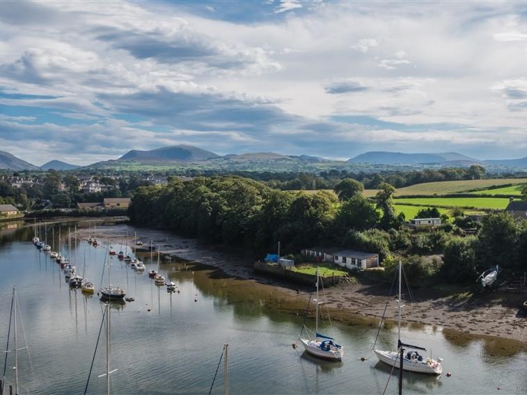 Caernarfon Castle view over River Seiont