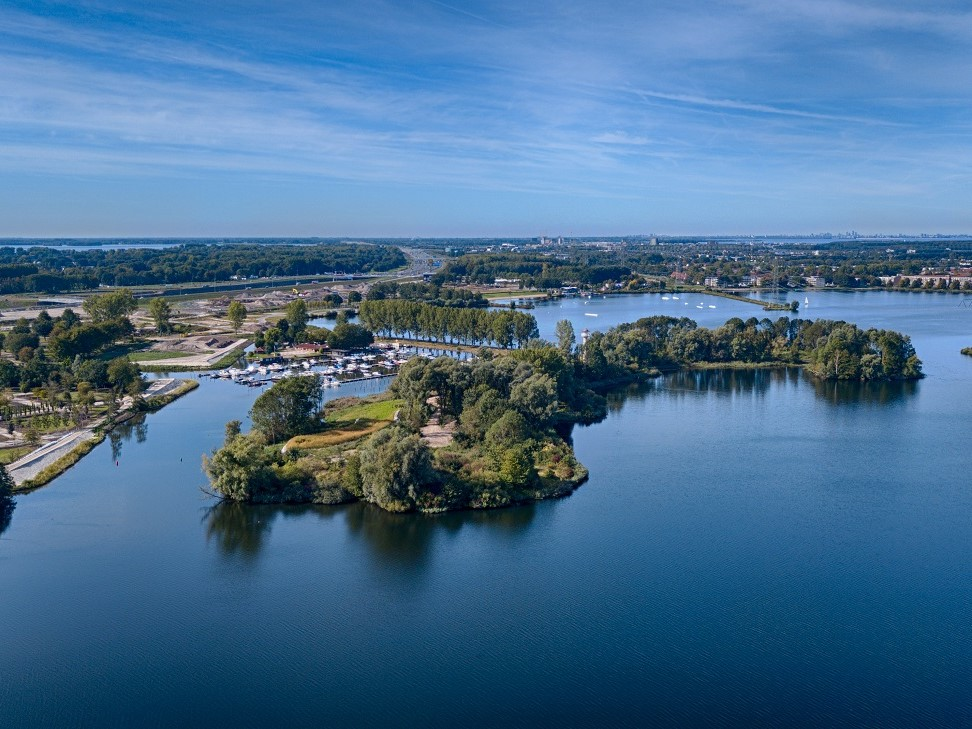 Floriade Aearial view, Weerwater