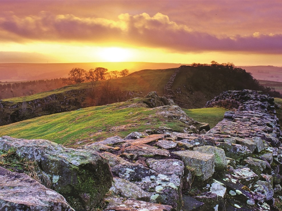 Hadrians Wall Sunset©English Heritage