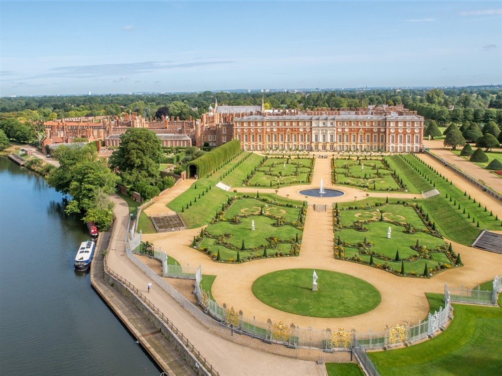 Ariel view of South Palace from Thames