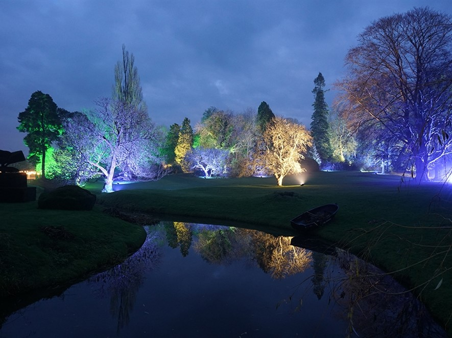 Hever Castle Gardens at Twilight