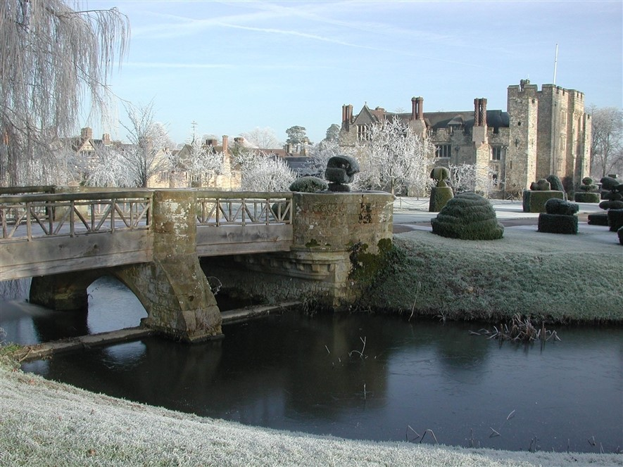 Hever Castle Winter outer moat