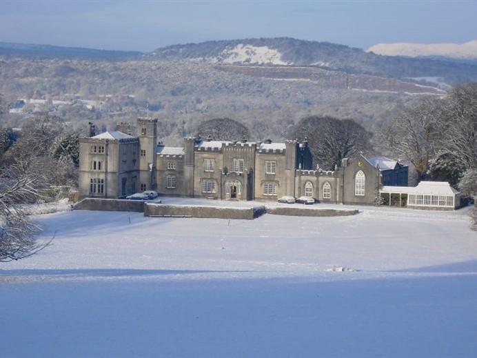 Leighton Hall in snow