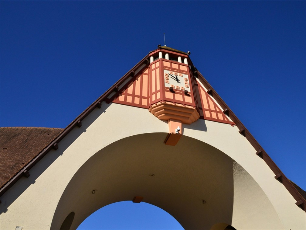 Le Touquet covered market clock