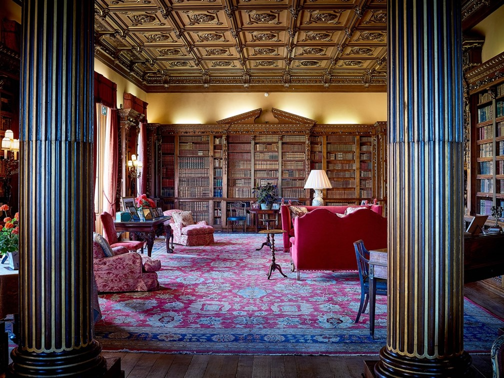 Library at Highclere Castle