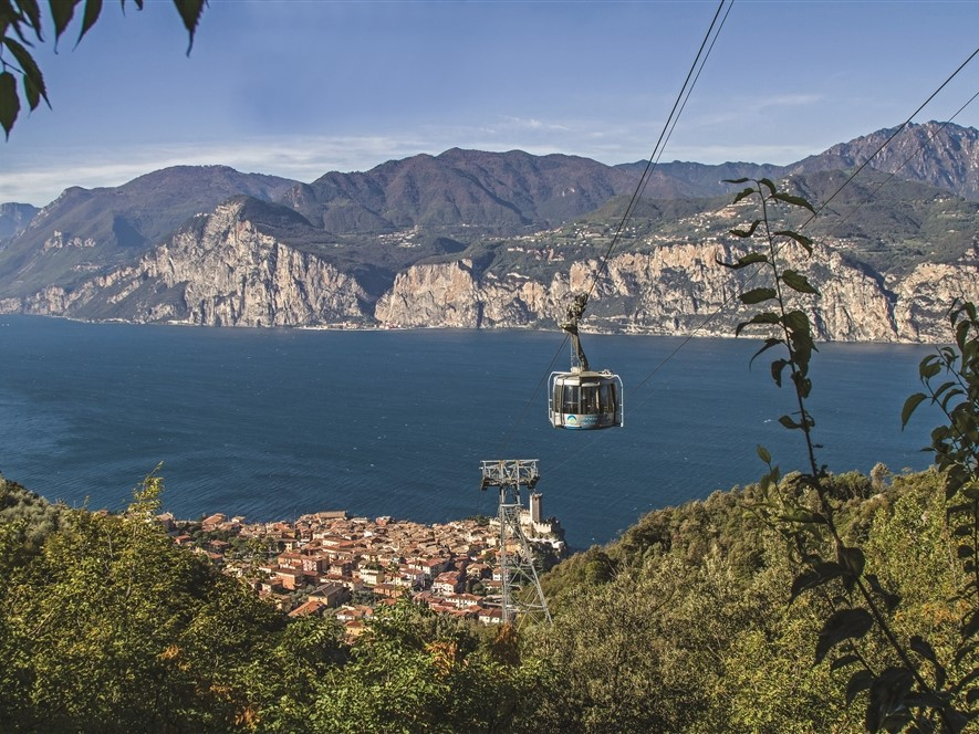 Malcesine view from the cable car