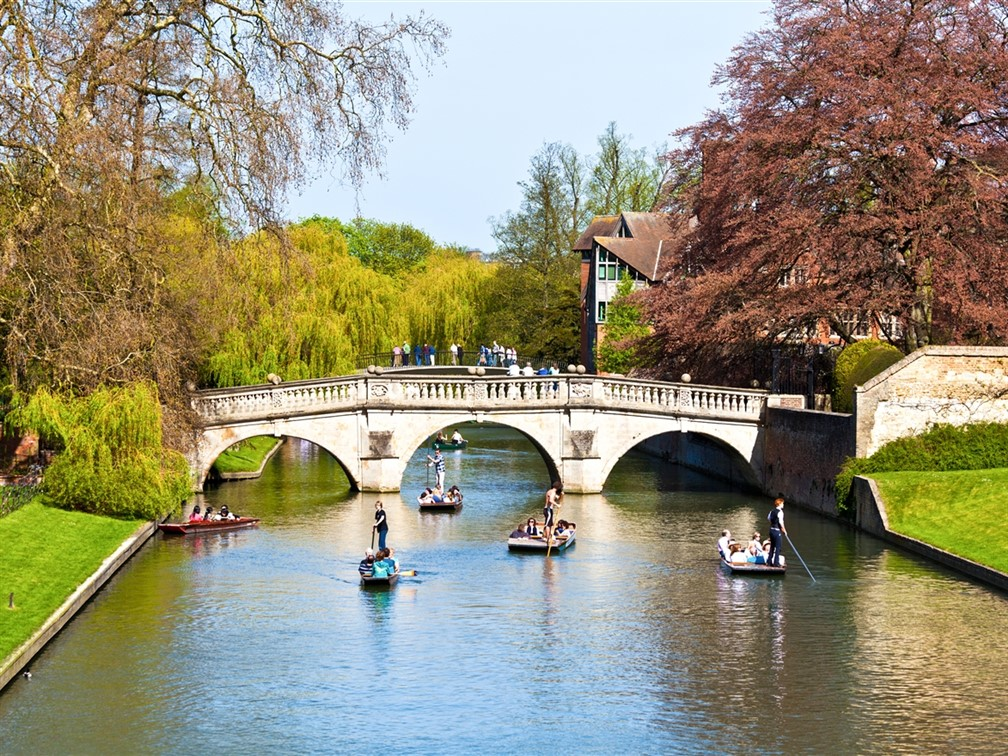 River Cam punting at King's College in Cambridge