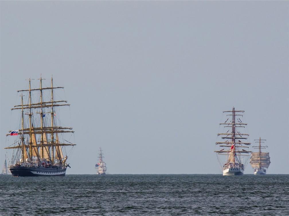 Tall Ships at sea