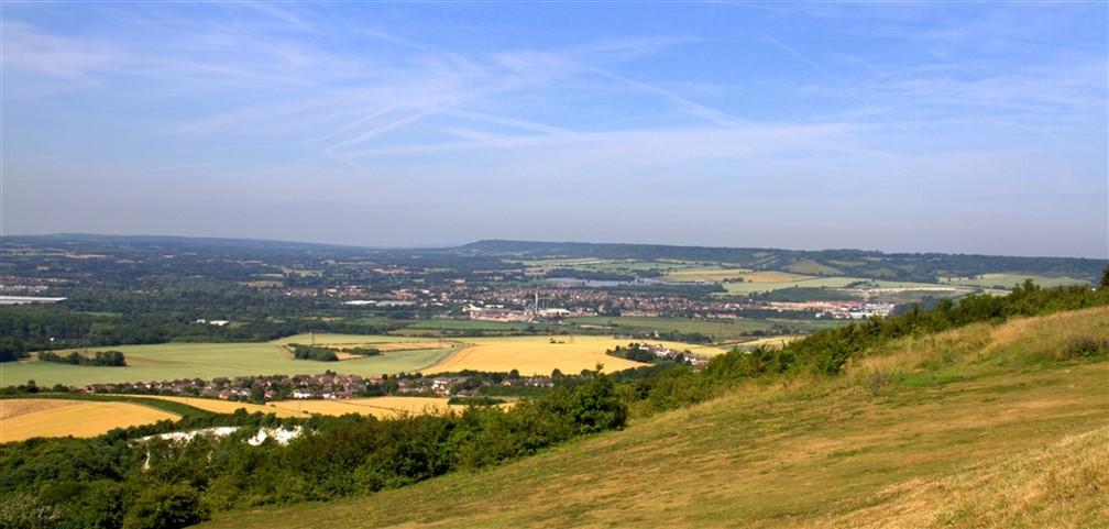 View over the North Devon Downs