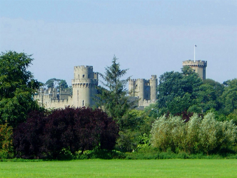 Warwick Castle with trees