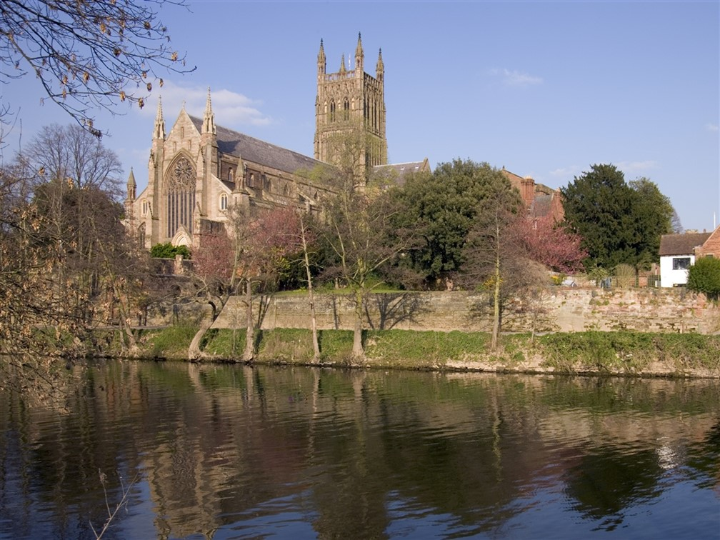 Worcester Cathedral & River Severn