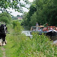 Horse Drawn Barge with Afternoon Tea